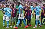 Barça - Napoli - 20140806 - Salut des équipes.jpg