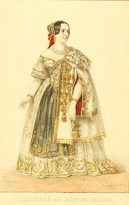 Schodelné Klein Rozália Bátori Mária szerepében