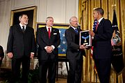 Barack Obama presents Medal of Honor to Richard Etchberger's sons 2010-09-21