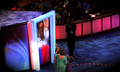 Barack Obama speaks via satellite to convention and wife Michelle Obama and daughters at 2008 DNC (2894749800).png
