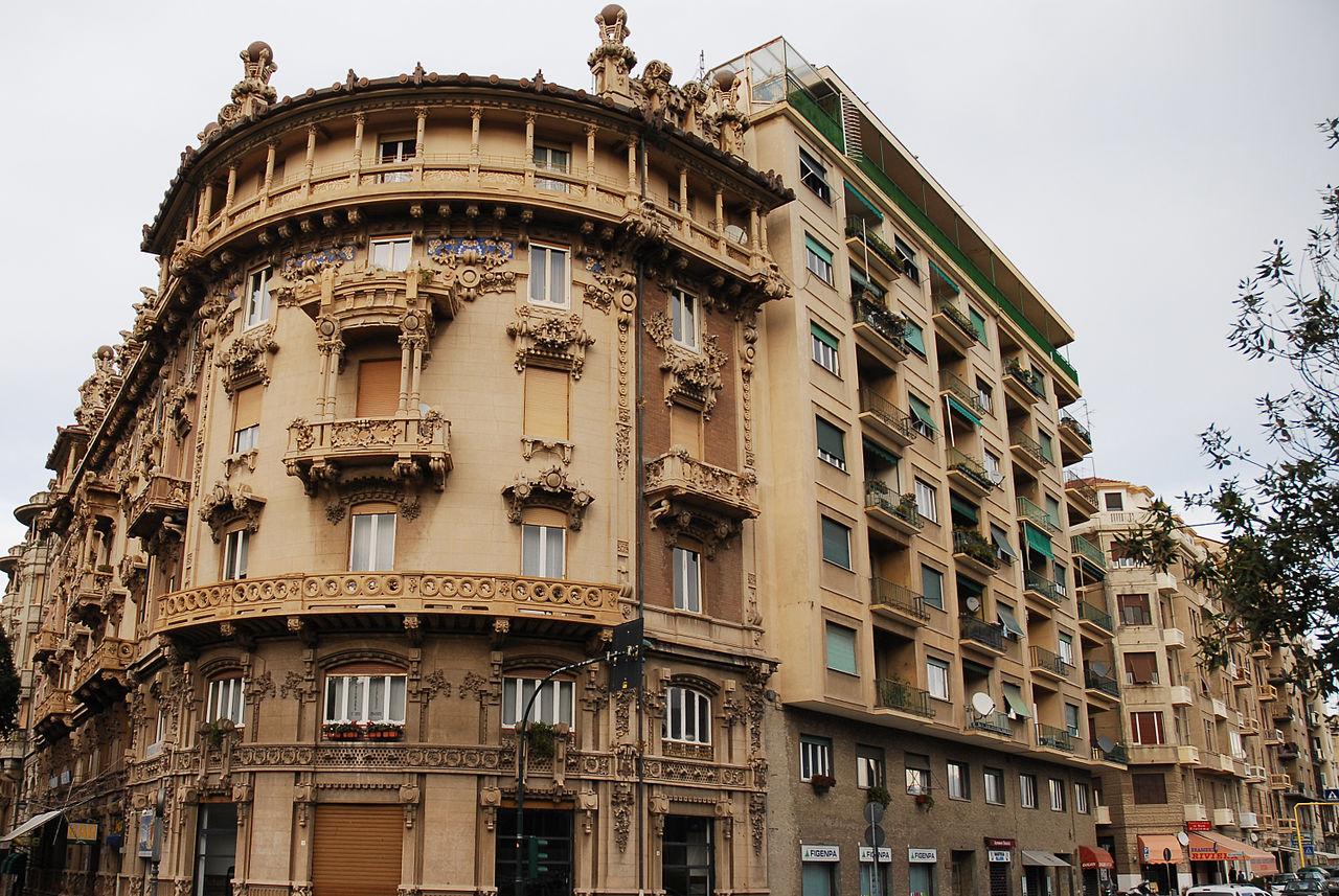 file:baroque architecture in the streets of savona, liguria region
