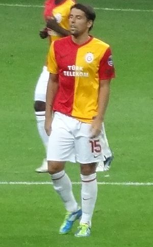 Milan Baroš - Baroš playing for Galatasaray in 2011