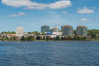 Barrie - Downtown Barrie from Kempenfelt Bay
