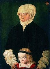 Portrait of Margaret Urmiller, née Schwab, and Her Daughter