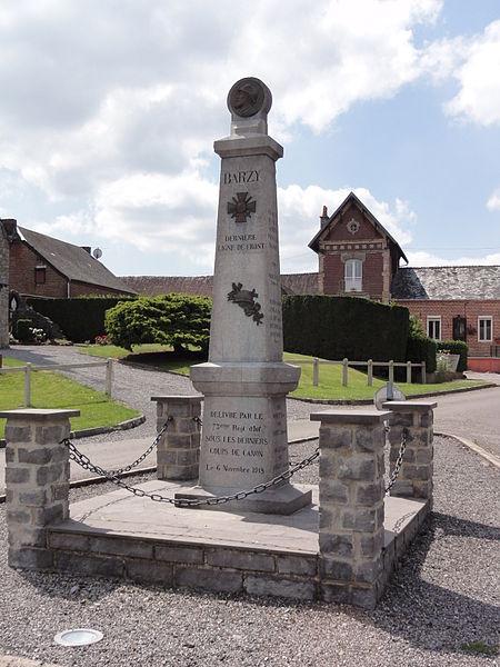 Barzy-en-Thiérache (Aisne, Fr) monument aux morts