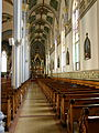Basilica of Saint Francis Xavier (Dyersville, Iowa), interior, view of shrine to the Holy Family from rear.jpg