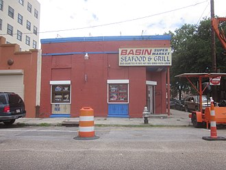 """Lulu White - """"Basin Super Market"""" in 2013; housed in what had been the ground floor of Lulu White's Saloon."""