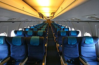 Fokker F28 Fellowship - five-abreast seating