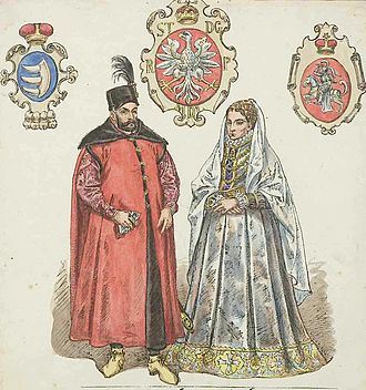 Stephen Báthory - Báthory and wife Anna Jagiellon, by Matejko
