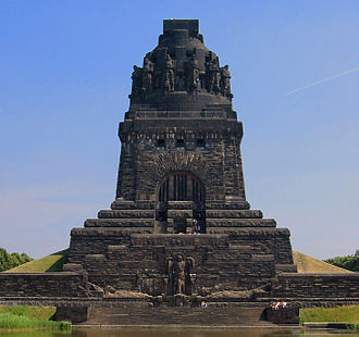 Unification of Germany - The Battle of the Nations monument, erected for the centennial in 1913, honors the efforts of the German people in the victory over Napoleon