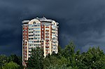 Baumana 7 Korolyov Moscow Oblast against stormy sky.jpg