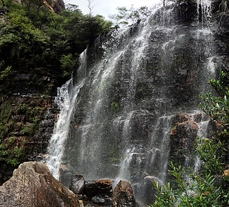 Beauchamp Falls (Blue Mountains) - Beauchamp Falls, pictured in 2013