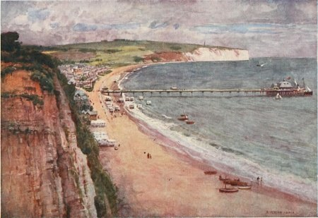 Beautiful Britain - The Isle of Wight - by G.E. Mitton - 2 SANDOWN BAY