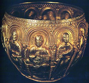 Bagrat III of Georgia - The Bedia Chalice donated by Bagrat to the Bedia Monastery is an important piece of Georgian metal art. c. 999 AD