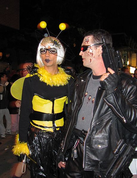 File:Bee and Terminator fancy dress costumes.jpg