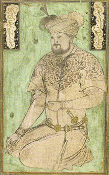 Portrait du sultan Hossein Bayqara parBehzâd(Bibliothèque nationale du Caire), vers 1490