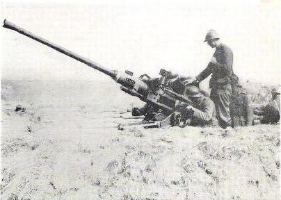 Belgian anti-aircraft gun, 1940