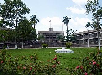 Hispanic - Image: Belmopan Parliament