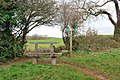 Bench and footpath - Marldon - geograph.org.uk - 1083758.jpg
