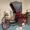 Benz automobile, 1892, made by Karl Benz, Mannheim, Germany, 5 HP, 1 cylinder, water-cooled, gasoline engine - Luray Caverns Car and Carriage Museum - Luray, Virginia - DSC01173.jpg