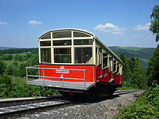 Passenger waggon of cable railway