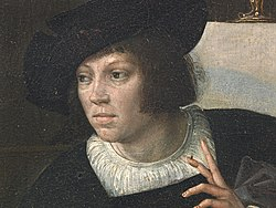 Bernard van Orley - Self-portrait on Exterior Panel of Triptych of Virtue of Patience.jpg