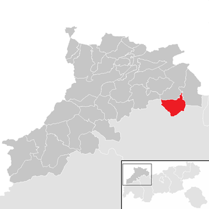Location of the municipality of Biberwier in the Reutte district (clickable map)