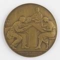 Bibliothèque Royale de Belgique Centenaire de l'Ouverture au Public 1840-1940, medal by Pierre Theunis, Belgium, (1940), Coins and Medals Department of the Royal Library of Belgium, 2N175 - 14 (recto).jpg