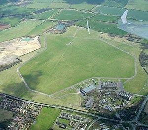 Bicester Airfield - Bicester Airfield from above.