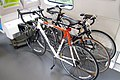 Bike storage in BART D car mockup, April 2014.jpg