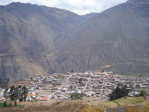 Chillón River - Image: Bird's eye view of Canta, Peru