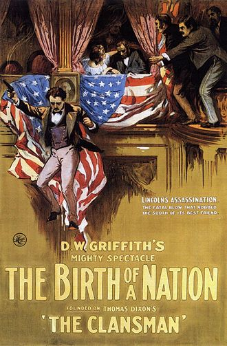 Silent film - Poster for The Birth of a Nation (1915)