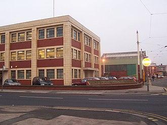 Blackpool Tramway - Corporation Tramways building, Blackpool