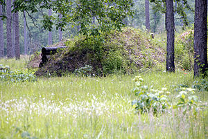 Blakeley, Alabama - The Boyaux fortification at the Blakeley battleground