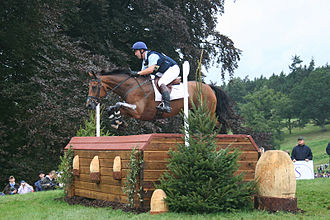 Cross-country riding - A cross country competitor