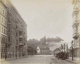 Großbeerenstraße + Wasserfall F. Albert Schwartz (died 1906) / Public domain