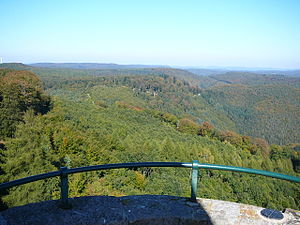 Frankenweide - The Upper Frankenweide: view from the Luitpold Tower of the Weißenberg to the north