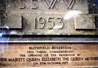 Blithfield Reservoir - Opening Plaque, Blithfield Reservoir