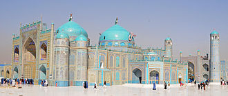 Shrine of Ali - Image: Blue Mosque in the northern Afghan city in 2012