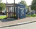 Blue former police box, Chepstow Road, Newport - geograph.org.uk - 1481853.jpg