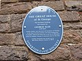 Blue plaque, House of George Slee, merchant, St Peter Street, Tiverton, Devon..JPG