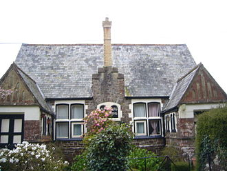 School boards in England and Wales - Country Board School in Devon near South Molton. Opened 1876 for just 16 pupils. Closed 1922. Now a private dwelling (semi-detached) and Grade 2 listed