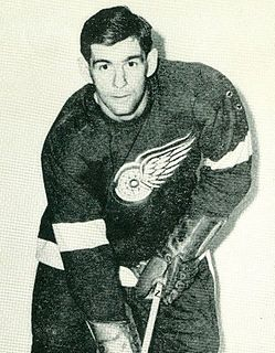 Bob Goldham Canadian ice hockey player and broadcaster