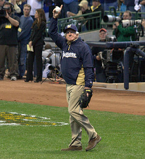 Milwaukee Brewers - Bob Uecker, play-by-play announcer for Milwaukee Brewers radio broadcasts since 1971
