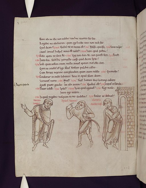 Bodleian Libraries, Comedies of Terence 111v