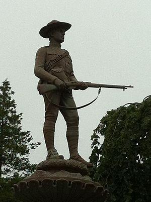 The Royal Canadian Dragoons - Royal Canadian Dragoons, Boer War Sculpture by renowned sculptor Hamilton MacCarthy (1903), Halifax Public Gardens