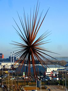 "steel sculpture B of the Bang"" 25 meters high"