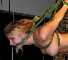 Tied boobs bondage breast