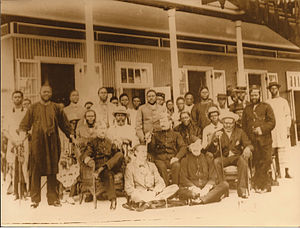 Kingdom of Bonny - Bonny Chiefs with Naval Commandant 1896
