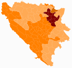 Bosnia and Herzegovina subdivision map Tuzla Canton.png